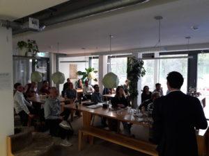 Teilnehmer Crypto Meetup Mainz im April mit Felix Green und Nhan Vu