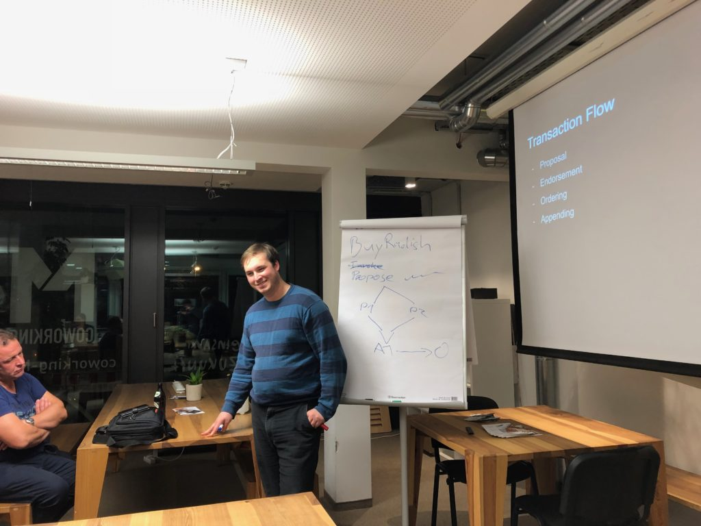 Hyperledger Fabric Meetup Mainz im Coworking Space M1 - Alex Green Hyperledger Fabric Architektur