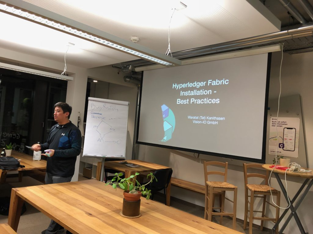 Hyperledger Fabric Meetup Mainz im Coworking Space M1 - Installation Best Practice