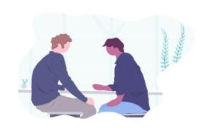 Grafik Austausch Personen auf Blockchain Veranstaltungen
