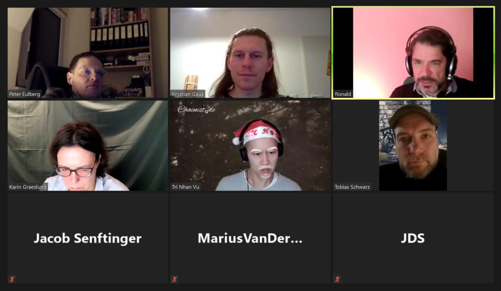 Die Crypto Community beim virtuellen Weihnachtstreffen