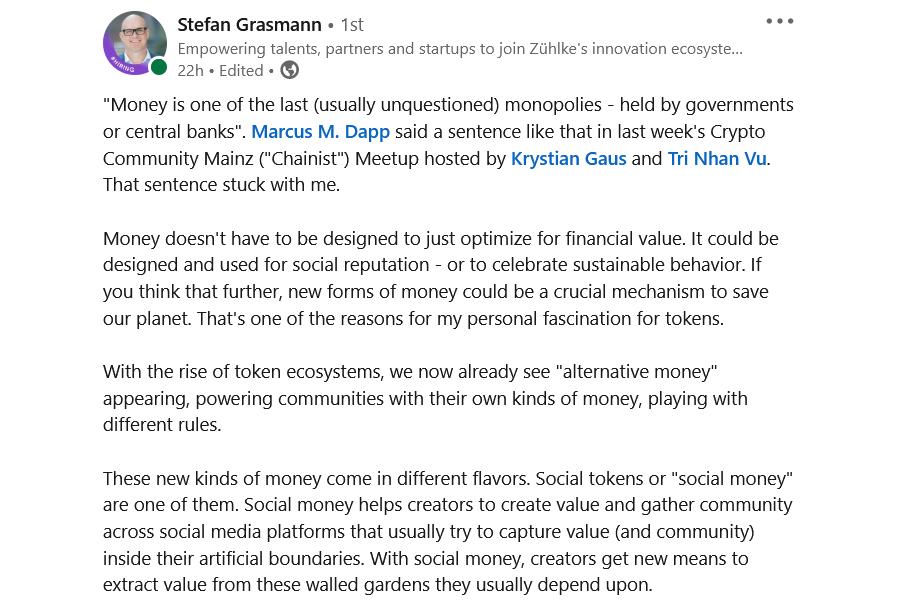 Stefan Grasmann über Nutzer-generiertes Kapital
